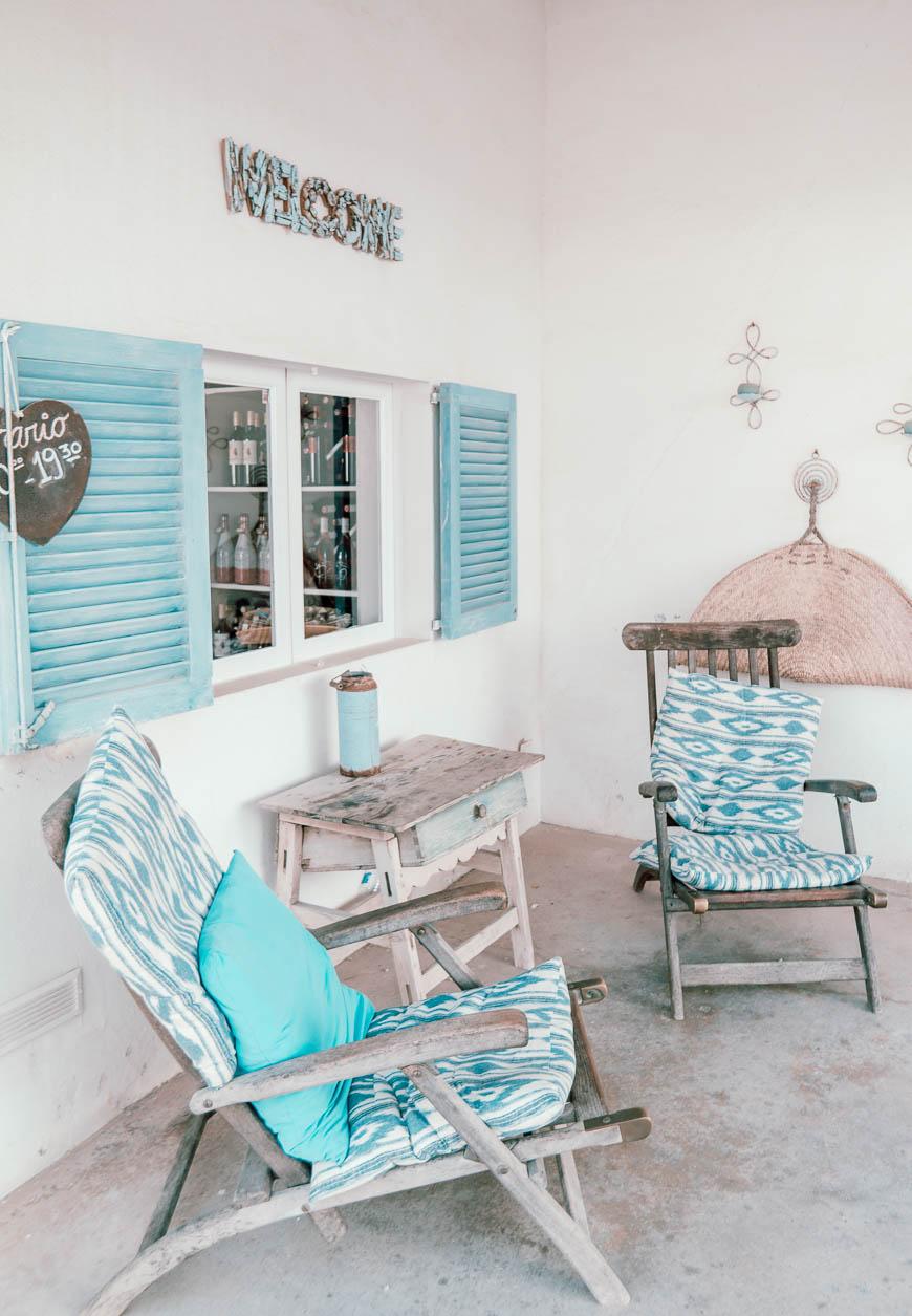 Das Salinen-Café im Süden von Mallorca mit kleinem Shop und schöner Außenterrasse