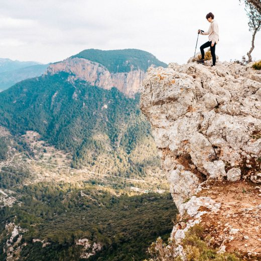 Winter Wanderung Castell d'Alaró Gipfel